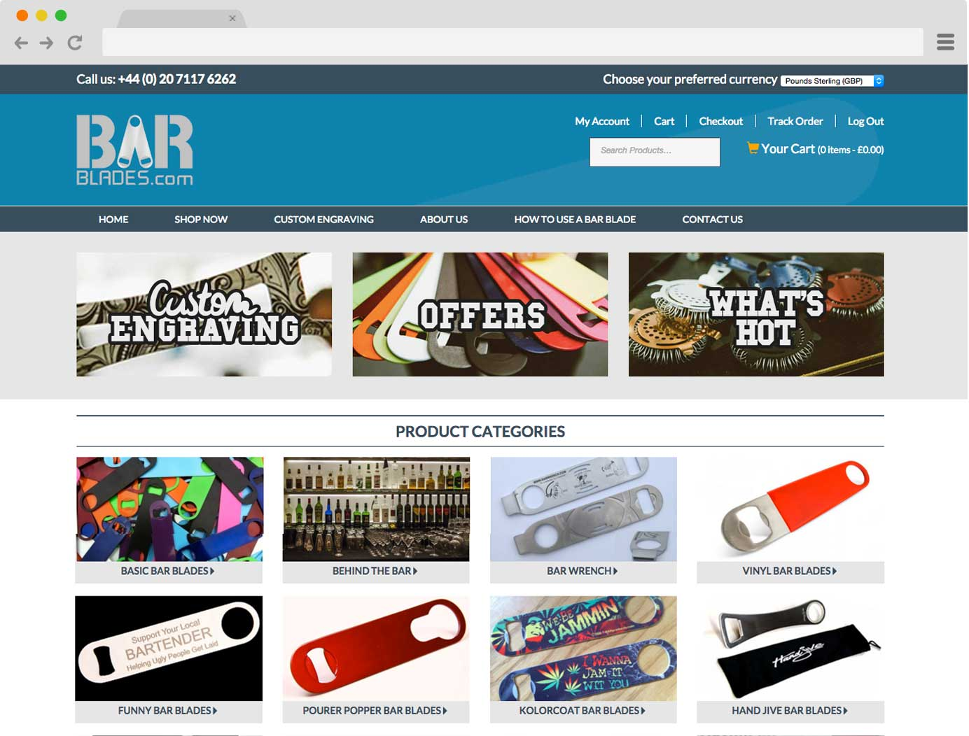 Bar Blades Website Screenshot