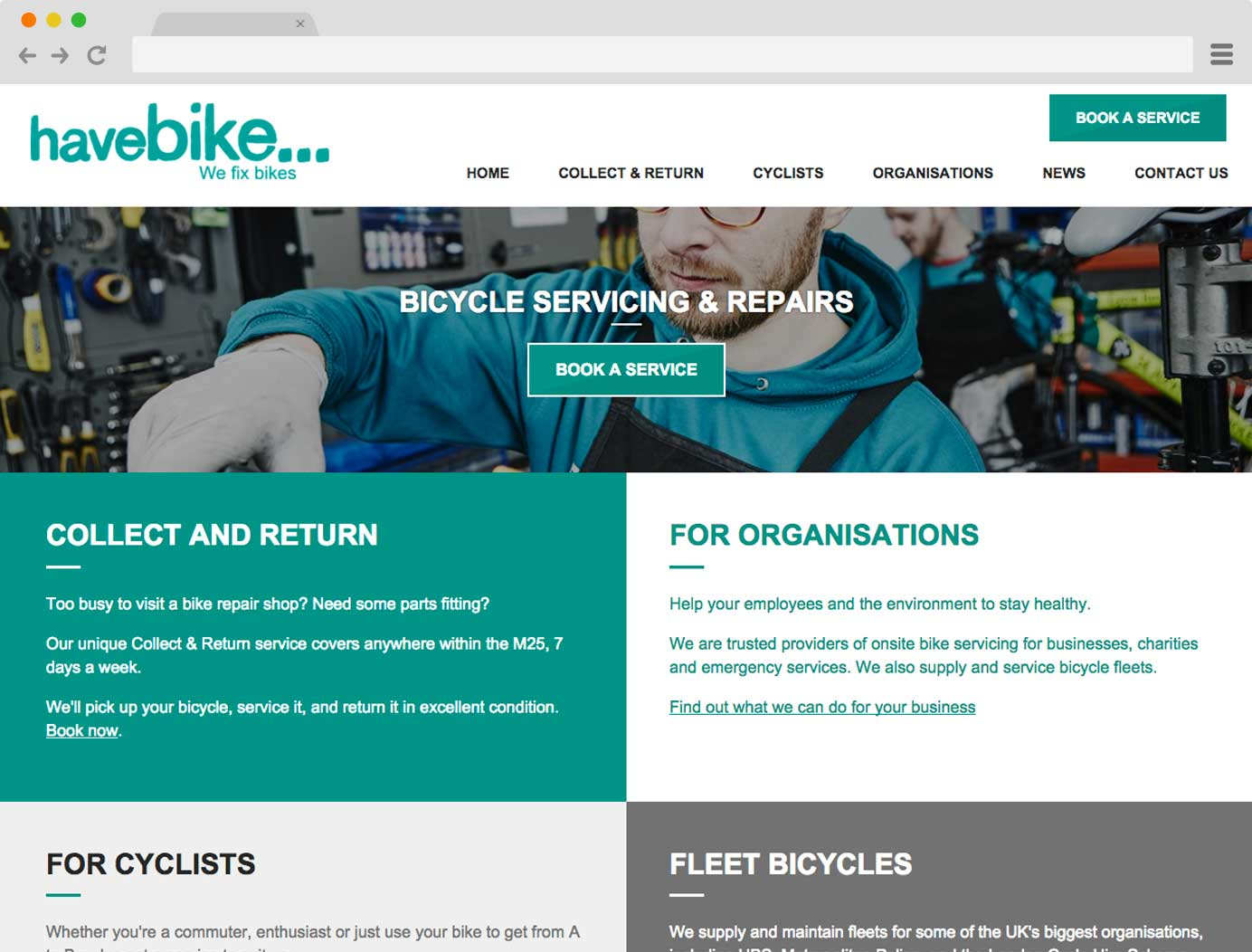 Have Bike website screenshot