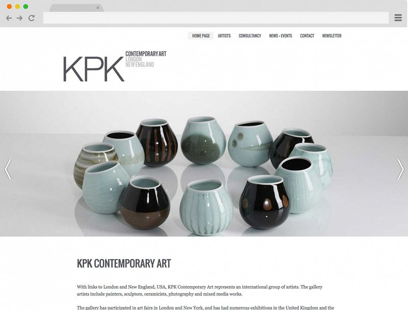 Screenshot of KPK Gallery website.