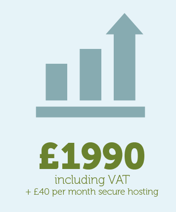 ECommerce Package - £1990 including VAT - plus £40 per month hosting